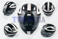 "Шлем-интеграл   ""HJC""   (mod:R1) (size:L, черно-белый, CLASSICO)"