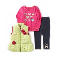 Детский комплект для девочки - жилет-топ-брюки