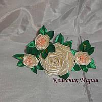Набор шпилек Розы, 4шт (ручная работа)