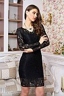 Ажурное черное платье