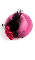 Мини шляпка розовая