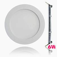 Светодиодный светильник Lumen / 6W / круглый встраиваемый белый (LED панель)