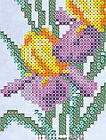 Авторская канва для вышивки бисером «Ирисы», фото 2