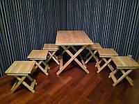 """Мебель Стол+6 стульев """"ДУБ"""" (мебел для дачи, для кухни, для выезда на пекник)"""