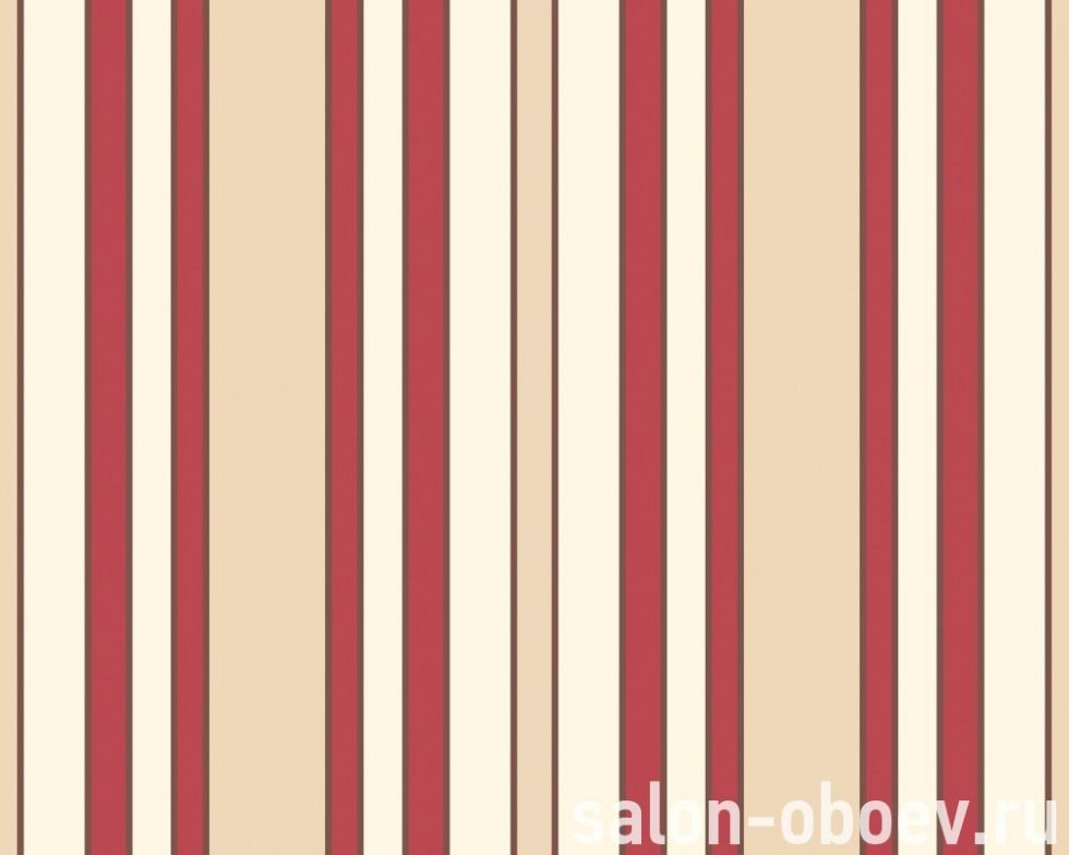 Обои полосатые яркого красного оттенка 220134.