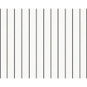 Обои - узкая черно-белая полоска 222312.