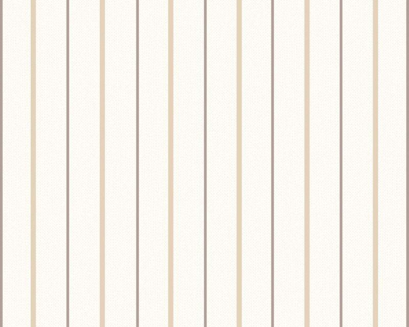 Светлые немецкие обои 222336, в тонкую бежевую полоску на белом фоне, моющиеся виниловые и флизелиновые