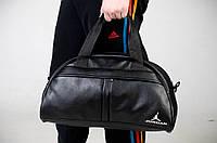 Сумка городская спортивная джордан черная унисекс