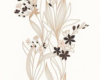 Обои светлые, с мелкими цветочками на стеблях 237323.