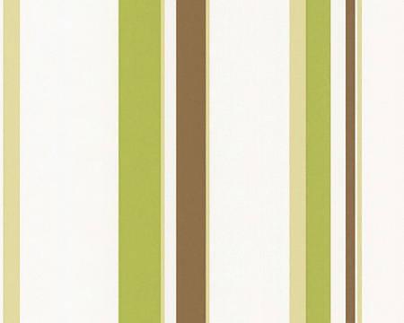 Обои виниловые, в оливковую, зеленую полоску 237231.