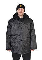 Зимняя куртка-бушлат для охранников - черная