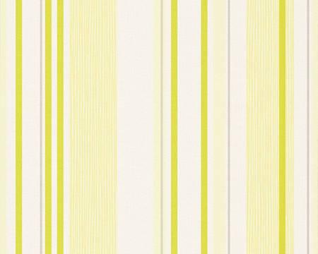 Обои с желтыми и салатовыми вертикальными полосками 273314.