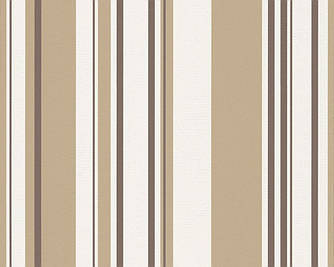 Обои моющиеся, в полоску светло-коричневого цвета 273369.
