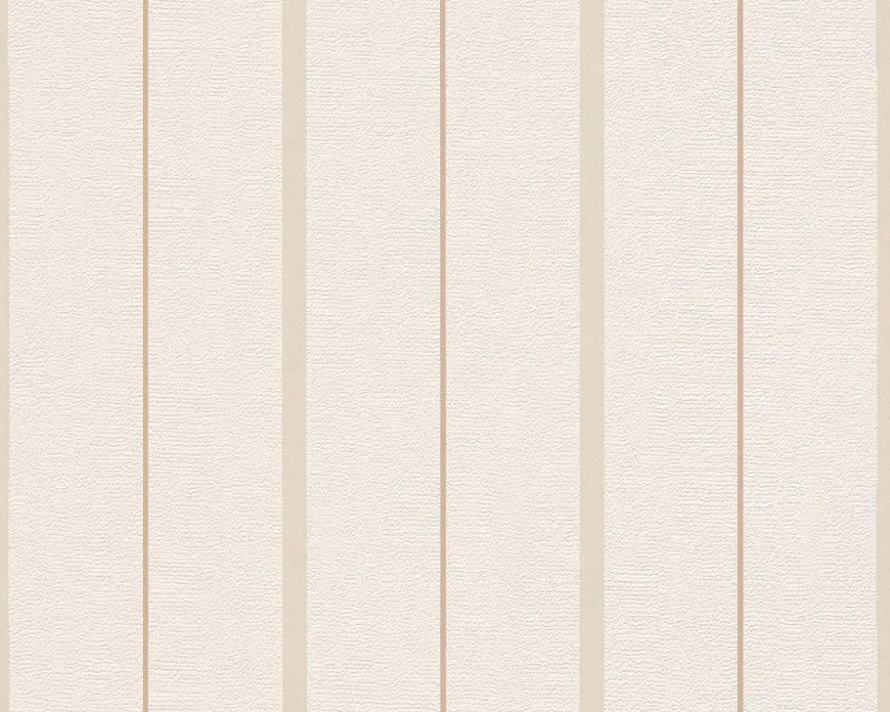 Світлі німецькі шпалери 291127, з тонкими бежевими смужками на теплому кремовому тлі, пастельного відтінку