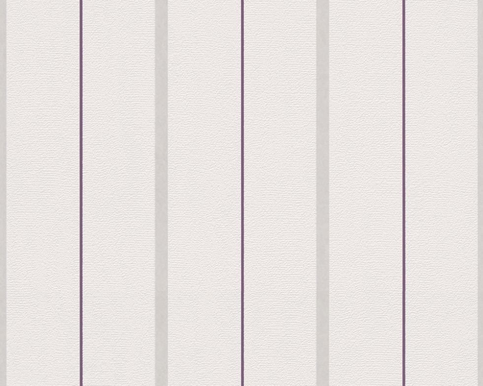 Світлі німецькі шпалери 291134, з тонкою фіолетовою смугою на пастельному тлі, з легким сіруватим відтінком
