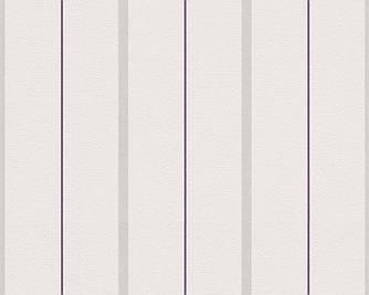 Обои пастельные, в тонкую фиолетовую полоску 291134.