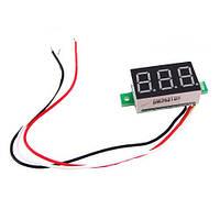 Цифровой вольтметр до 100В LED измеритель вольтажа