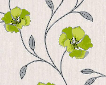Обои цветы яркого зеленого и салотового цвета 292414.