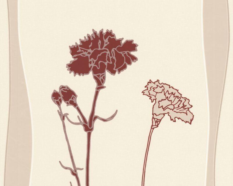 Обои с бордовыми цветами гвоздики 550125.