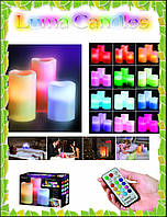 Светодиодные свечи Luma Candles Color Changing на батарейках, фото 1
