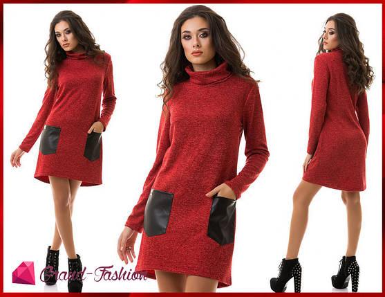 """Платье """"Tasca"""" - красный, фото 2"""