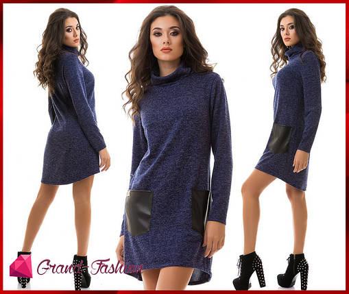 """Платье """"Tasca"""" - тёмно/синий, фото 2"""