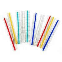 10х Коннектор 40pin папа 2.54 шаг, Arduino цветные