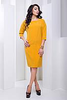 Вечернее Элегантное Платье Свободного Фасона Горчичное XS-XL