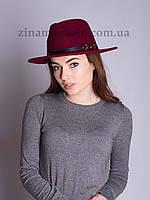 Женская осенняя шляпа бордо