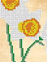 Авторская канва для вышивки бисером «Нарциссы», фото 2