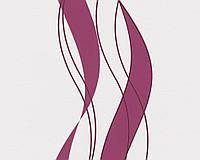 Обои яркого вишневого цвета в волнистую полоску 935773.