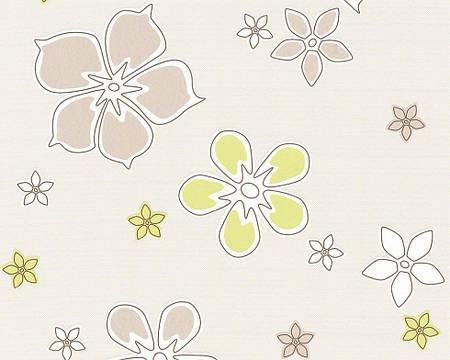 Обои с светло-салатовыми цветочками 938051.