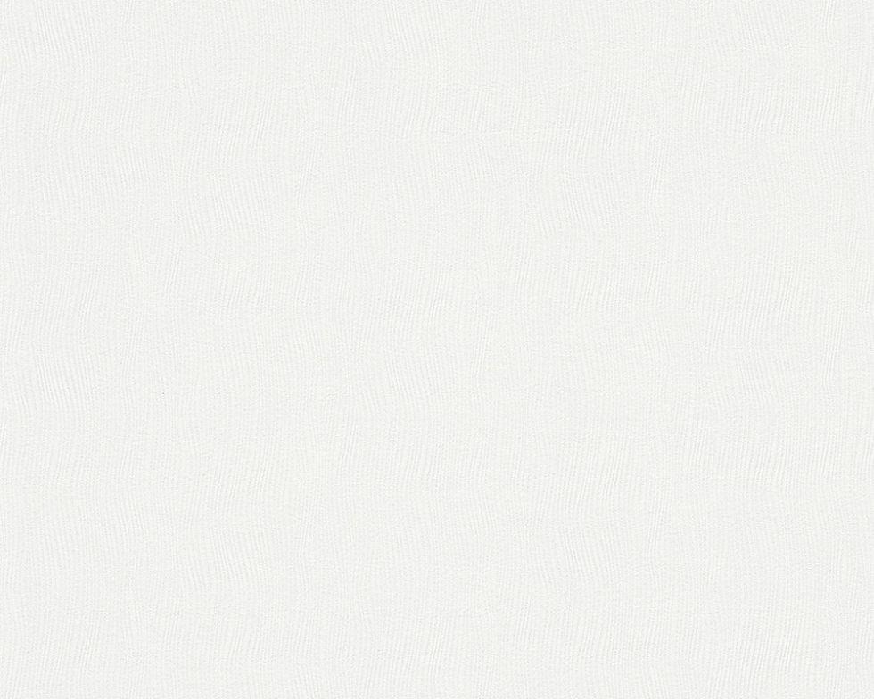Однотонні білі німецькі шпалери 944917, холодного відтінку, миються вінілові на флізеліновій основі, тиснені
