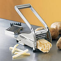Картофелерезка под фри Potato Chipper, картофелерезка стальная с 2 насадками для картошки фри
