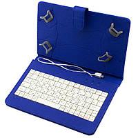 Универсальный чехол с клавиатурой к планшетам 7 Micro usb Blue, фото 1