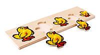 Детская игрушка - Рамка и вкладыши - Цыплята