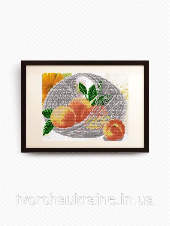 Авторская канва для вышивки бисером «В хрустале. Персики»