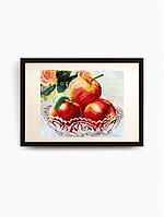 Авторская канва для вышивки бисером «В хрустале. Яблоки»