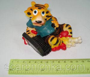 """Подставка под мобилу  JO """"Тигр с компьютером"""" №5290, фото 2"""