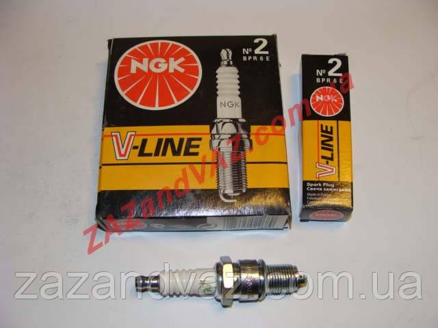 Свечи зажигания NGK V-Line №2 BPR6E ВАЗ 2108-21099 2110 8 кл. оригинал