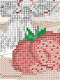 Авторская канва для вышивки бисером «В хрустале. Клубника», фото 2