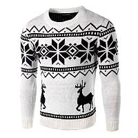 Мужской новогодний свитер с оленями