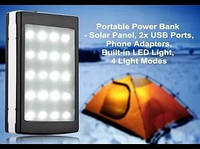 Power Bank Солнечная батарея 30000мАh
