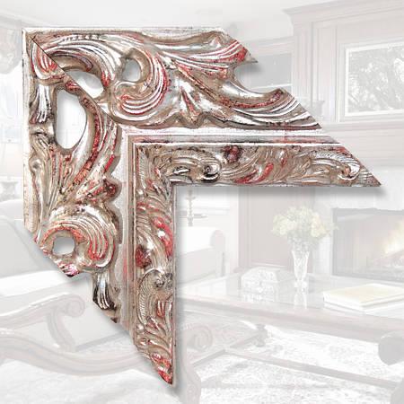 Зеркало в деревянной раме шириной 146мм