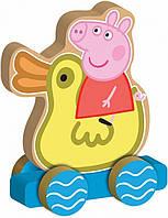 Деревянная игрушка-каталка Peppa Веселое путешествие