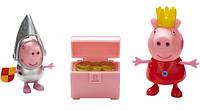 Набор фигурок Peppa серии Принцесса - Принцесса Пеппа и сэр Джордж Сильвер, с аксессуаром