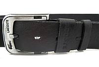 Lacoste - черный кожаный ремень