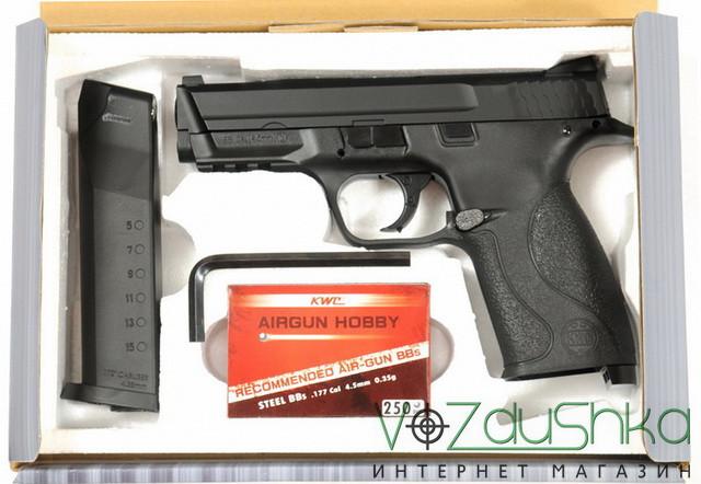 пневматический пистолет смит энд вессон kwc km-48 dhn