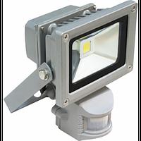Светодиодный прожектор 10 Вт Standart + датчик движения и освещения