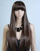 Парик каштановый прямой волос